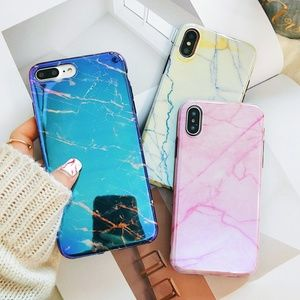 Accessories - NEW iPhone Max/XR/XS/X/7/8/Plus Shiny Marble Case